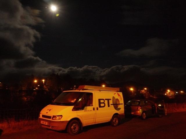 Moonlit BT Van