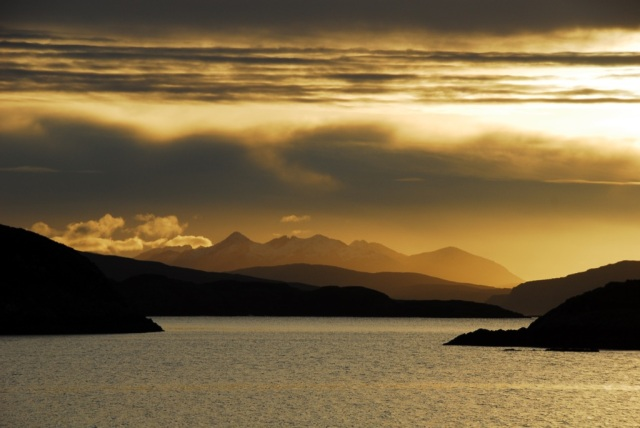 The Cuillins Winter Light