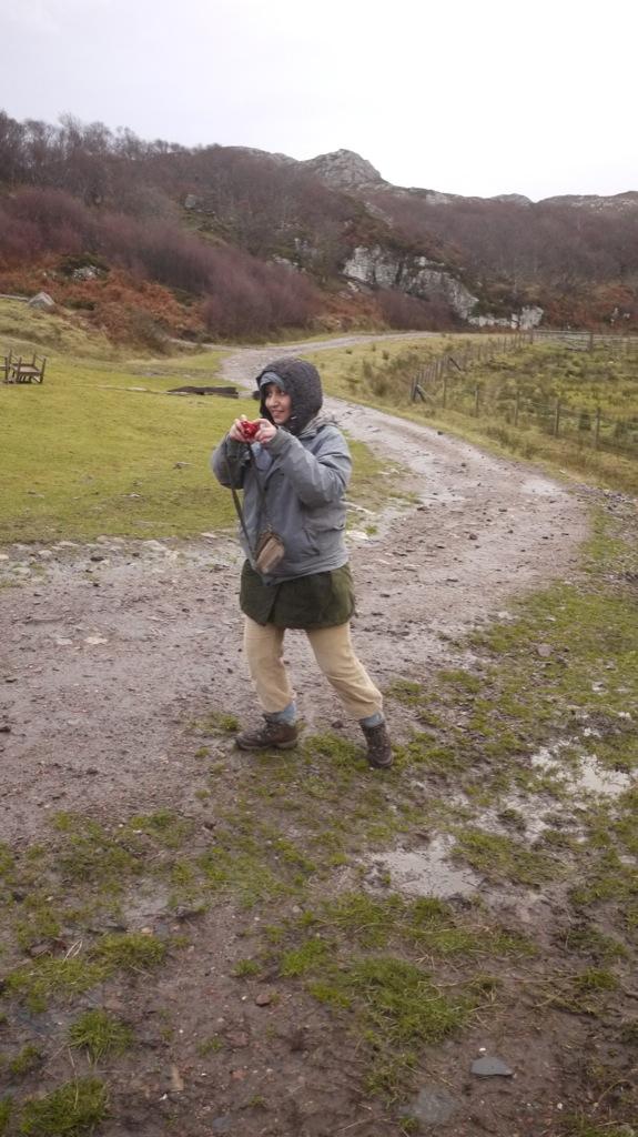 Nikki, catching photos.