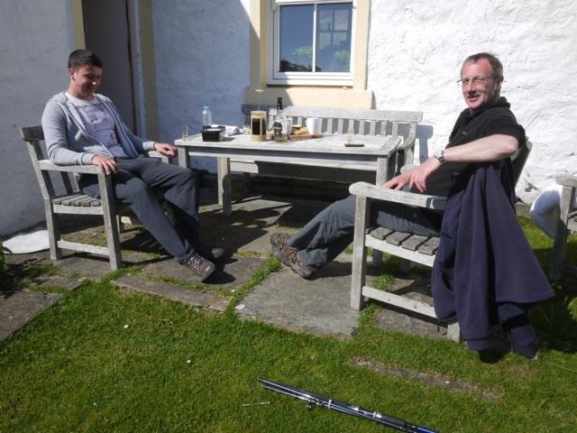 Steve and jo enjoying a last minute Friday Night Whisky