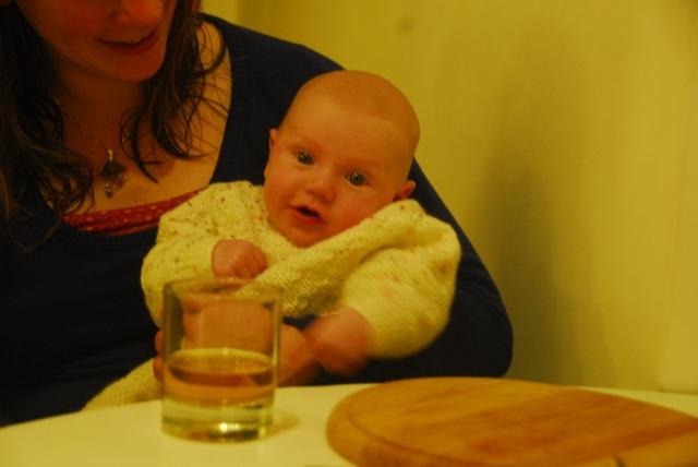 Enjoying a 'wee dram'.