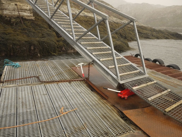 Repositioning the gangway