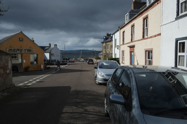 First Yacht Mast of the Season, Cromarty though!