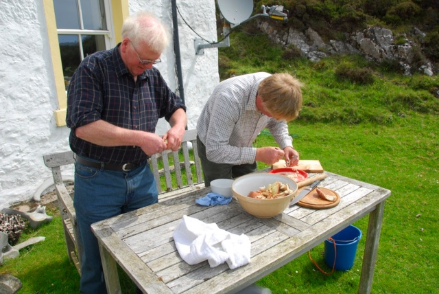 Angus and john Cookery Prep School