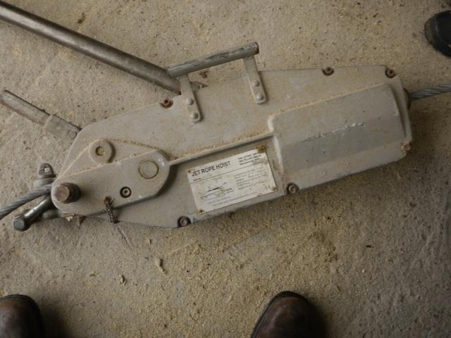 Broken Jet Rope Hoist (Tirfor)