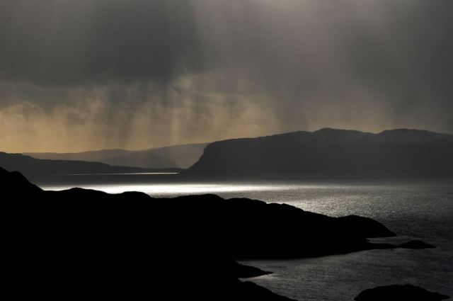 Snow Showers over The Sound of Raasay