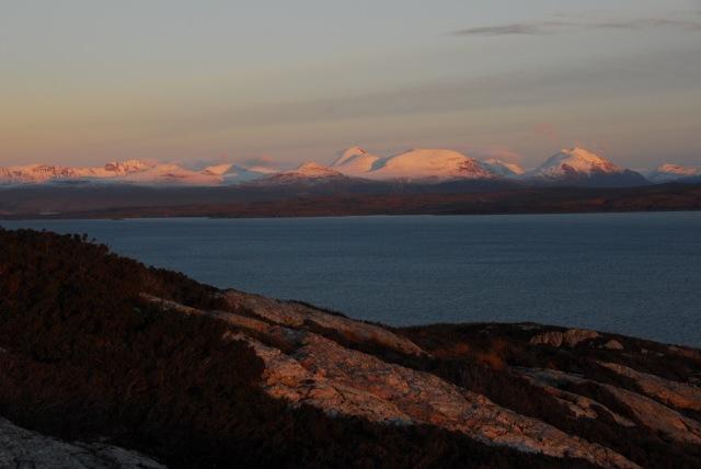 Sun setting on Torridon